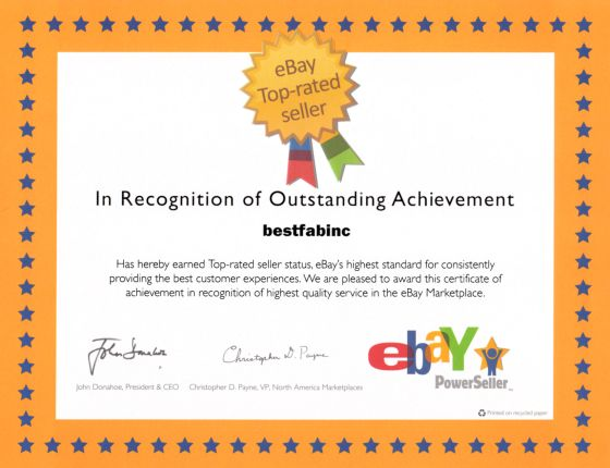 Top Rated eBay Seller - Best Fab Inc.!